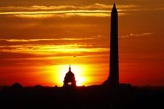 Washington, D.C. - Helicopter at Dawn Stock Photos