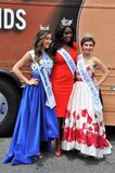 WASHINGTON, D.C. - JULY 4, 2017: winners of beauty contests-participants of the 2017 National Independence Day Parade July 4, 2017. Winners of beauty contests royalty free stock photos