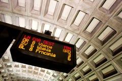 Washington D.C. Metro. Information sign at Washington D.C. Metro station Stock Photo