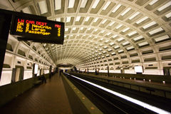 Washington, D.C. Metro Tunnel Royalty Free Stock Image