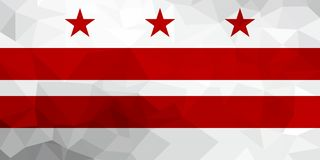 Washington, D.C. polygonal flag. Mosaic modern background. Geometric design royalty free illustration