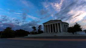 Washington, D.C. skyline with highways and monuments royalty free stock photography