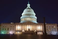 Free Washington, D.C, USA - July 2, 2017: United States Capitol Building At Night Stock Photos - 139011443