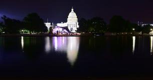 Free Washington, D.C, USA - July 2, 2017: United States Capitol Building Reflecting Pool At Night Royalty Free Stock Photo - 139010465