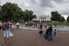 WASHINGTON D.C., USA - JUNE, 21 2016 - People taking pictures on back of White House building Royalty Free Stock Images