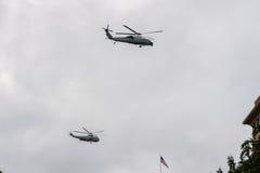 WASHINGTON D.C., USA - JUNE, 21 2016 - President Obama flying back to White House building Stock Photography