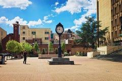 Clock in campus of the George Washington University stock photos