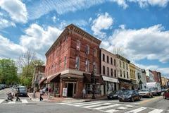 WASHINGTON D.C., USA - MAY, 2 2014 -  people walking in Georgetown Royalty Free Stock Images