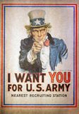 Uncle Sam I Want You for the U.S. Army Recruitment Poster by Jam Royalty Free Stock Images