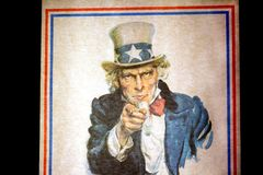 Uncle Sam I Want You for the U.S. Army Recruitment Poster by Jam. WASHINGTON D.C., USA - MAY 11, 2016: Uncle Sam I Want You for the U.S. Army Recruitment Poster royalty free stock photos