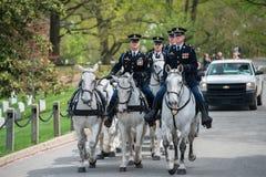 WASHINGTON D.C., USA - MAY, 2 2014 - US Army marine funeral at Arlington cemetery Royalty Free Stock Photo