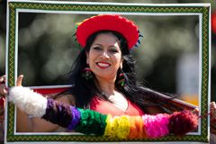 The Fiesta DC Parade royalty free stock images