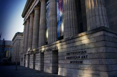 Washington DC—Nov 29, 2017, entrance to the Smithsonian American Art Museum and Portraiture Gallery Royalty Free Stock Images