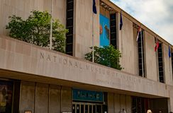 Smithsonian Natural Museum of American History entrance to build stock images