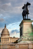 Washington DC commémoratif de Capitol Hill de statue des USA Grant Photo libre de droits