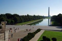 Washington DC, Ηνωμένες Πολιτείες - 27 Σεπτεμβρίου 2017: Μνημείο της Ουάσιγκτον που αντιμετωπίζεται από το μνημείο του Λίνκολν Στοκ Φωτογραφίες