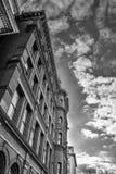 Washington DC, ΗΠΑ Ιστορικό κτήριο SunTrust με τον πύργο ρολογιών Γραπτή έκδοση του πυροβολισμού Στοκ εικόνα με δικαίωμα ελεύθερης χρήσης