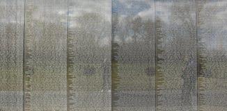 Washington DC, ΗΠΑ Μνημείο παλαιμάχων του Βιετνάμ Στοκ Εικόνες