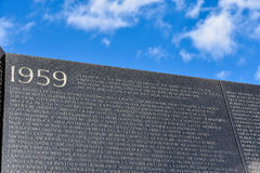 Washington DC, ΗΠΑ Μνημείο παλαιμάχων του Βιετνάμ Στοκ εικόνες με δικαίωμα ελεύθερης χρήσης