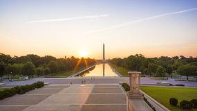 Washington DC στην εθνική λεωφόρο Στοκ φωτογραφία με δικαίωμα ελεύθερης χρήσης
