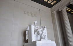 Washington DC, στις 5 Αυγούστου: Αναμνηστικό μνημείο του Λίνκολν από τη Περιοχή της Κολούμπια της Ουάσιγκτον Στοκ Εικόνα