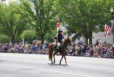 Washington DC, στις 4 Ιουλίου 2017: Η παρέλαση για την παρέλαση στις 4 Ιουλίου από τη Περιοχή της Κολούμπια ΗΠΑ της Ουάσιγκτον Στοκ Εικόνες