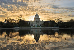 Washington DC. Capitol hill building in the morning with colorful cloud , Washington DC Stock Photography