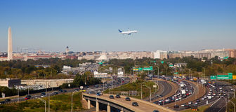 Washington DC. View of the Washington Dc from Arlington VA Stock Image