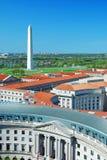 Washington DC aerial view Royalty Free Stock Photos