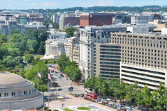 Washington DC, aerial view over Pennsylvania Avenue Royalty Free Stock Photos