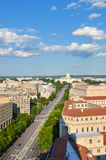 Washington DC - Aerial view of Pennsylvania street royalty free stock images
