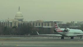 Washington DC Airports, Capitol Building. Stock video of airports in Washington DC stock video