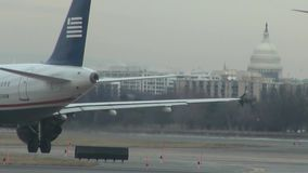 Washington DC Airports, Capitol Building. Stock video of airports in Washington DC stock footage