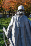 Washington DC al aire libre Autumn Soldiers de la pared del monumento de Guerra de Corea fotos de archivo