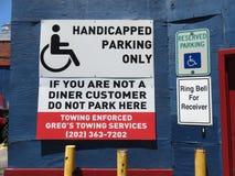 Washington DC américain de connexion de stationnement de wagon-restaurant de ville image libre de droits
