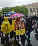 WASHINGTON DC - 22. April 2017 März für Wissenschaft Lizenzfreie Stockfotografie
