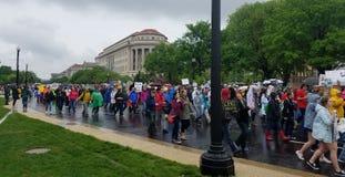 WASHINGTON DC - APRIL 22, 2017 mars för vetenskap Arkivfoton