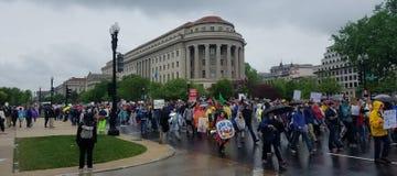 WASHINGTON DC - APRIL 22, 2017 mars för vetenskap Arkivbilder