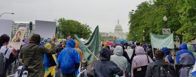 WASHINGTON DC - APRIL 22, 2017 mars för vetenskap Arkivbild