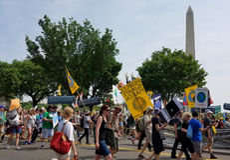WASHINGTON DC - APRIL 29, 2017 Peoples Climate Movement Stock Images