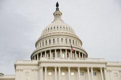 US Capitol, meeting place of the Senate and the House of Representatives stock photo