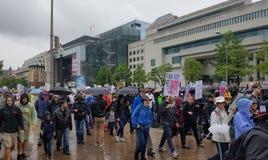 WASHINGTON DC - 22 aprile 2017 marzo per scienza Fotografie Stock Libere da Diritti