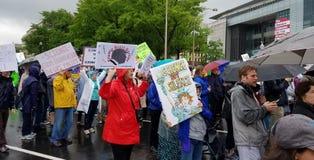 WASHINGTON DC - 22 aprile 2017 marzo per scienza Fotografia Stock Libera da Diritti