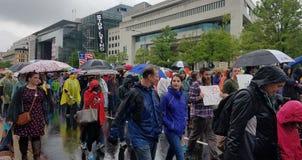 WASHINGTON DC - 22 aprile 2017 marzo per scienza Immagine Stock
