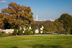 WASHINGTON DC - Arlington nationell kyrkogård Fotografering för Bildbyråer
