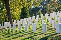 WASHINGTON DC - Arlington nationell kyrkogård Arkivbilder