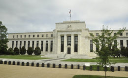 Washington DC, am 5. August: Amerikaner-Federal Reserve-Gebäude von Washington District von Kolumbien Lizenzfreie Stockfotografie