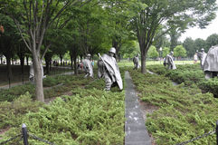 Washington DC,August 5th:Korean War Memorial from Washington District of Columbia. Korean War Memorial Soldiers Statues from Washington DC on august 5th 2016 Royalty Free Stock Photo