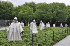 Washington DC,August 5th:Korean War Memorial from Washington District of Columbia. Korean War Memorial Soldiers Statues from Washington DC on august 5th 2016 Royalty Free Stock Image