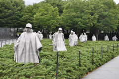 Washington DC,August 5th:Korean War Memorial from Washington District of Columbia. Korean War Memorial Soldiers Statues from Washington DC on august 5th 2016 Stock Photography